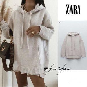 Zara Oversized Knit Sweatshirt